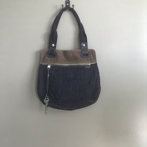 Fossil Key-per quilted boho bag